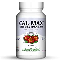 Maxi Health Cal-Max – Calcium Citrate with Vitamin D3 and Magnesium for Healthy...