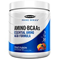 Muscletech Prime Series Bcaa/Eaa Amino Energy Powder, 7.2g Amino Acids Formula with...