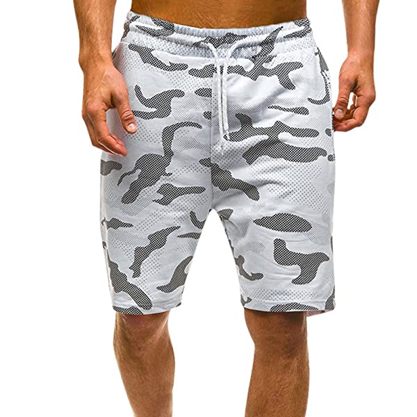 MODOQO Mens Shorts Lightweight Cotton Relaxed Fit Multi Pocket ...