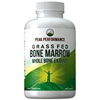 Grass Fed Bone Marrow - Whole Bone Extract Supplement 180 Capsules by Peak Performance...
