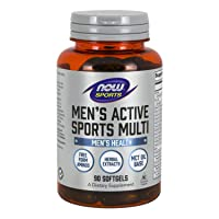 NOW Sports Nutrition, Men's Extreme Sports Multi with Free-Form Amino Acids, ZMA...