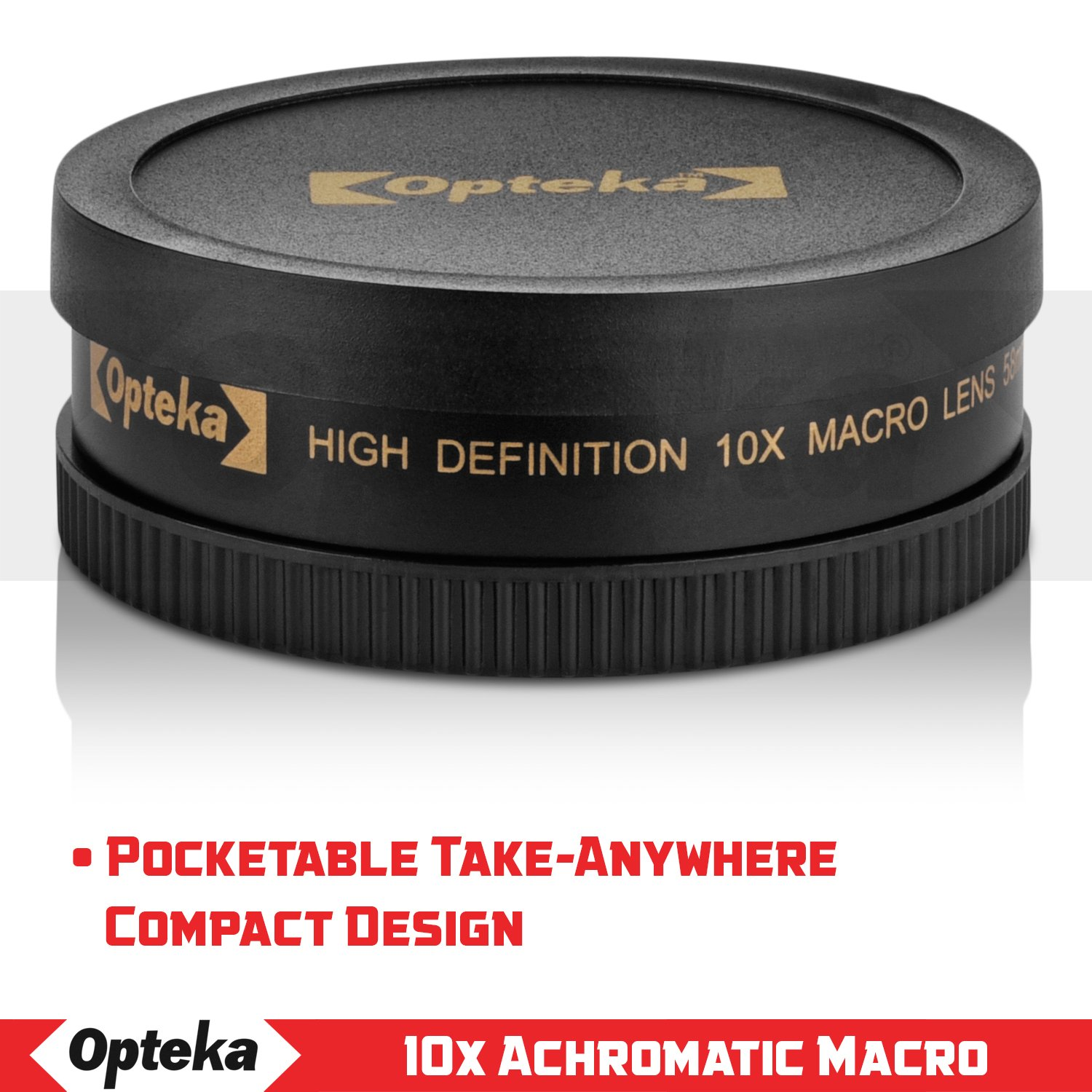 Macro 77mm Lens Canon EOS Rebel T7i 10x High Definition 2 Element Close-Up