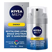 NIVEA Men Energy Lotion - Broad Spectrum SPF 15 Sunscreen for Face - 1.7 Fl. Oz....