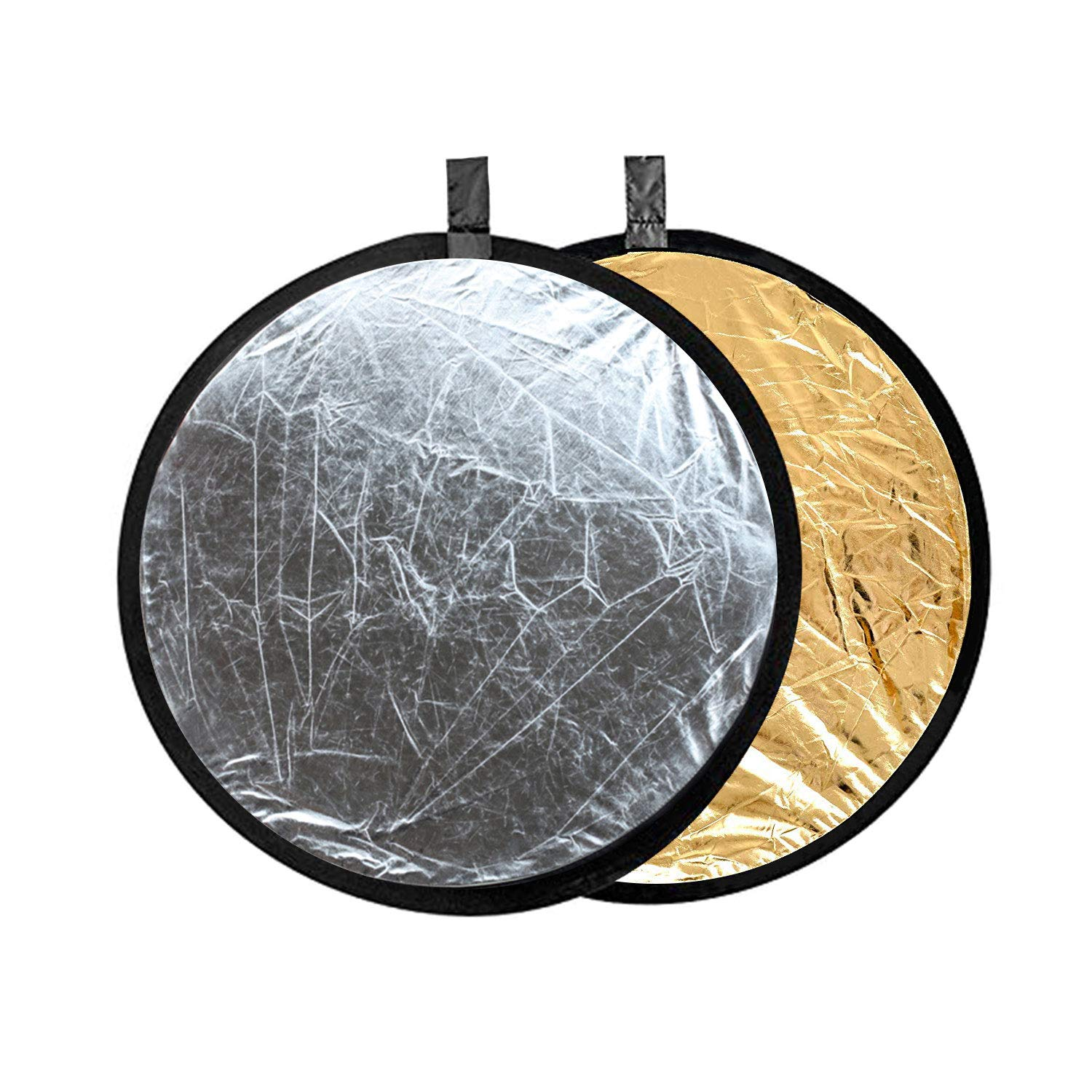 Color : As shown , Size : 60cm Photographic reflector 10 Pcs 5-in-1 Collapsible Soft Light Five Colors Foldable Photography Background Board 60cm Multi-Disc Light Reflector Gold Silver Black White