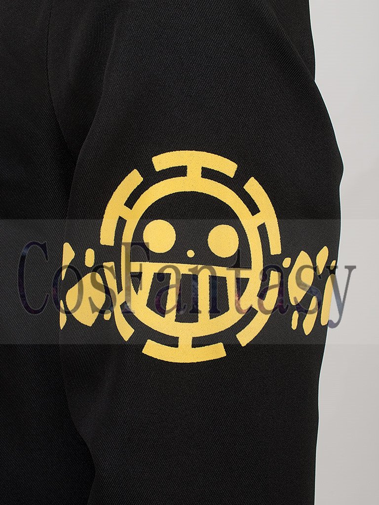 One Piece Trafalgar D Water Law Surgeon of Death Cosplay Costume Coat mp002027