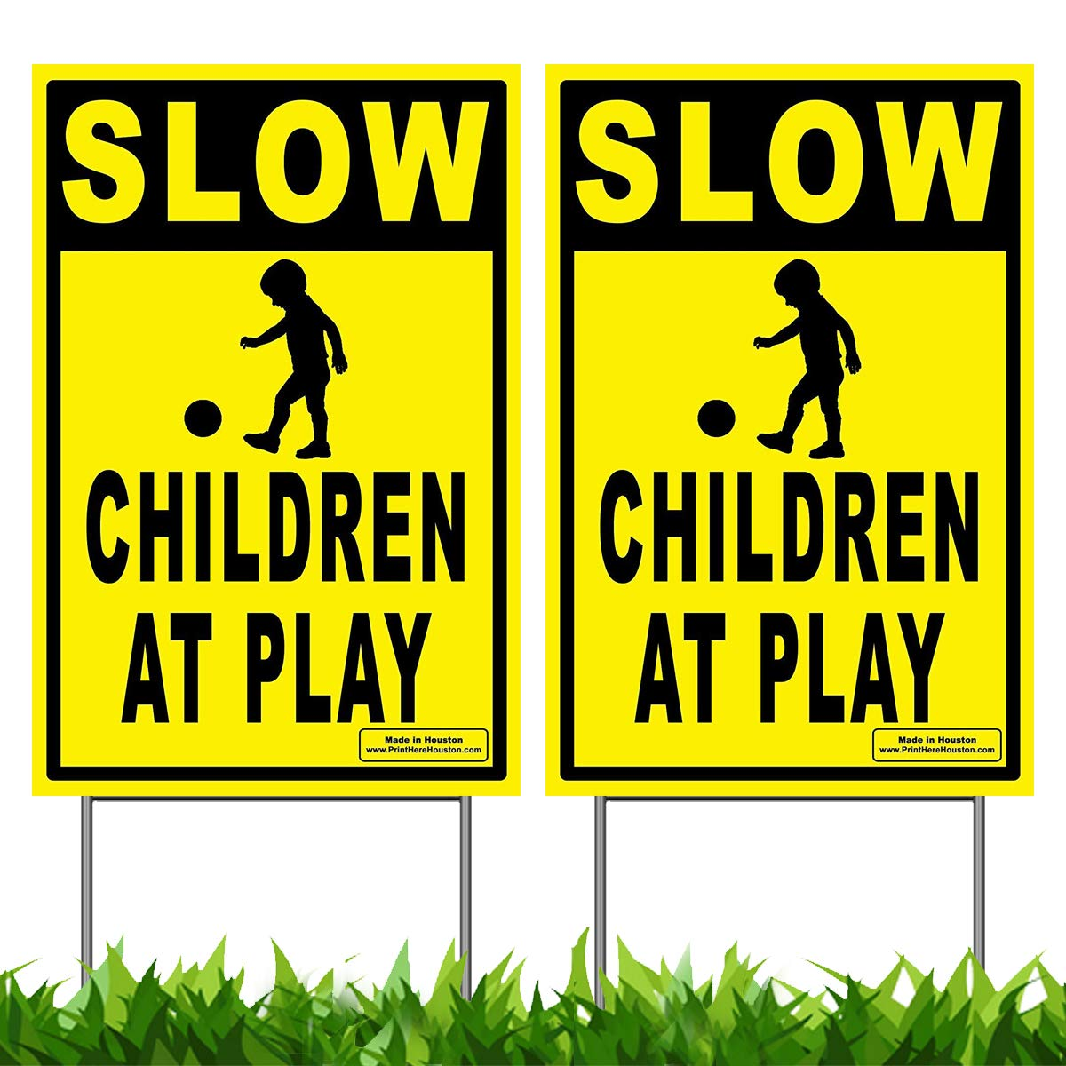 Children Playing Folding Floor Sign By SmartSign 25 x 12 Plastic Lyle Signs Caution
