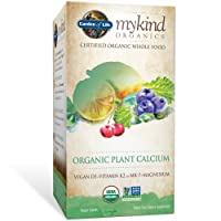 Garden of Life mykind Organic Plant Calcium - Vegan Whole Food Supplement with D3...