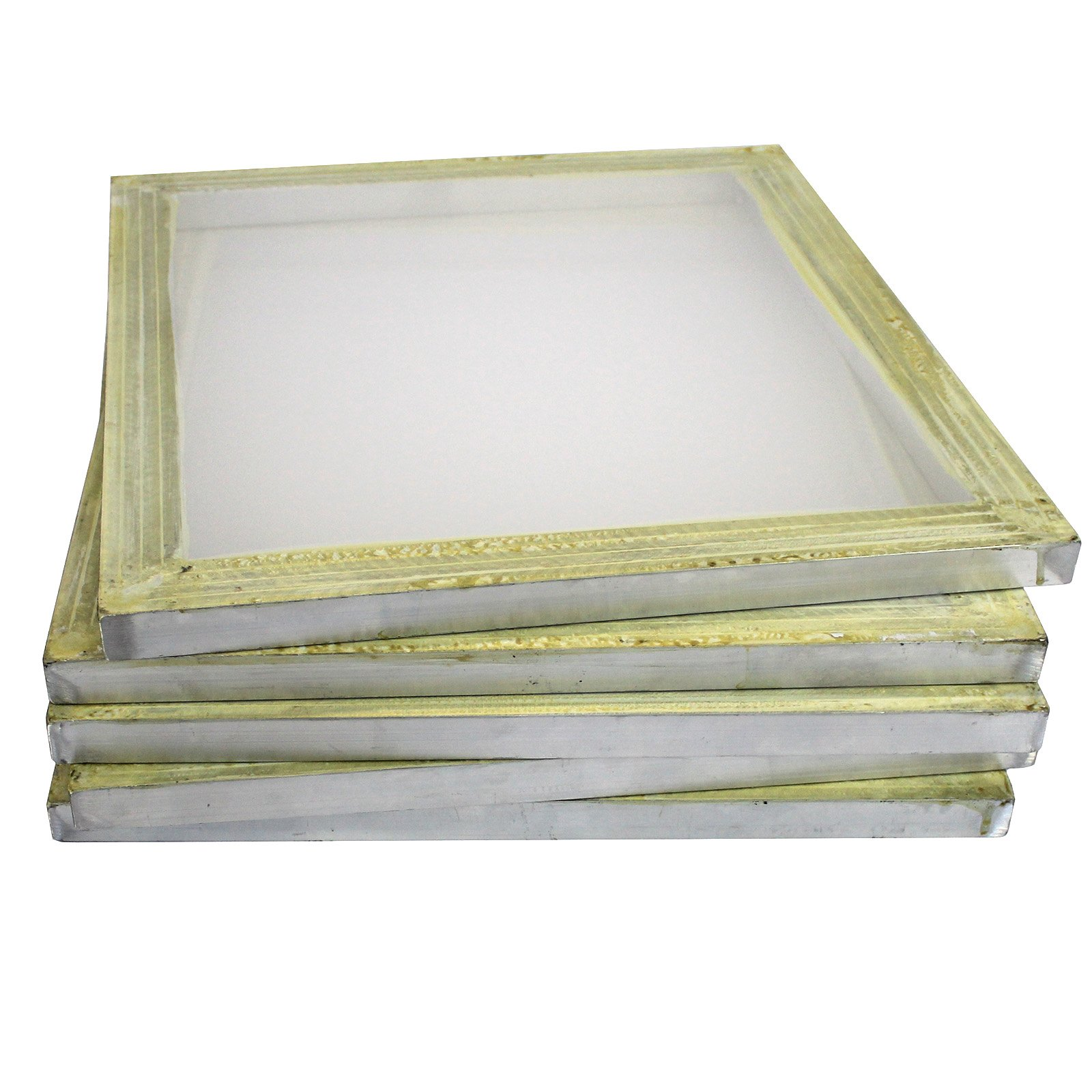 INTSUPERMAI 6pc 18inch x20inch Aluminum Silk Screen Frame with 200 Mesh Yellow Pre-Stretched Silk Screen Printing Frame