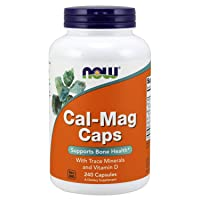 NOW Supplements, Cal-Mag with Zinc, Copper, Manganese and Vitamin D, 240 Capsules