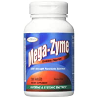 Enzymatic Therapy Mega-Zyme Gluten-Free 10X Strength Pancreatic Enzymes, 200 Count