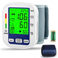 Wrist Blood Pressure Monitor,MOICO Voice Broadcast Automatic Digital Blood Pressure...