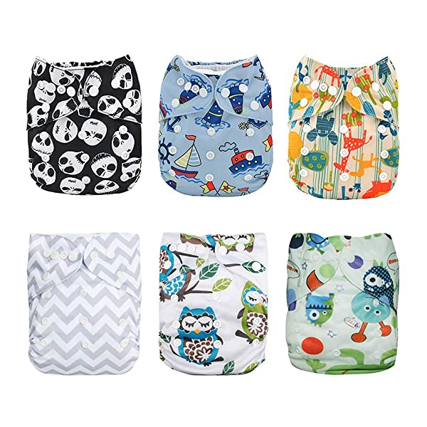 ALVABABY Charcoal Bamboo Inserts,Natures Cloth Diaper Liner,5-Layer Bamboo/Charcoal/Viscose/Staple/Fiber Inserts,Reusable Liners for Baby Cloth Diapers 12pcs 12ZTN