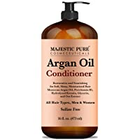 Majestic Pure Argan Oil Hair Conditioner with Keratin - Natural for All Hair Types...