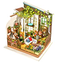 Rolife DIY Miniature Dollhouse Set-Model Building Kit to Build-Assembly Garden Fairy...