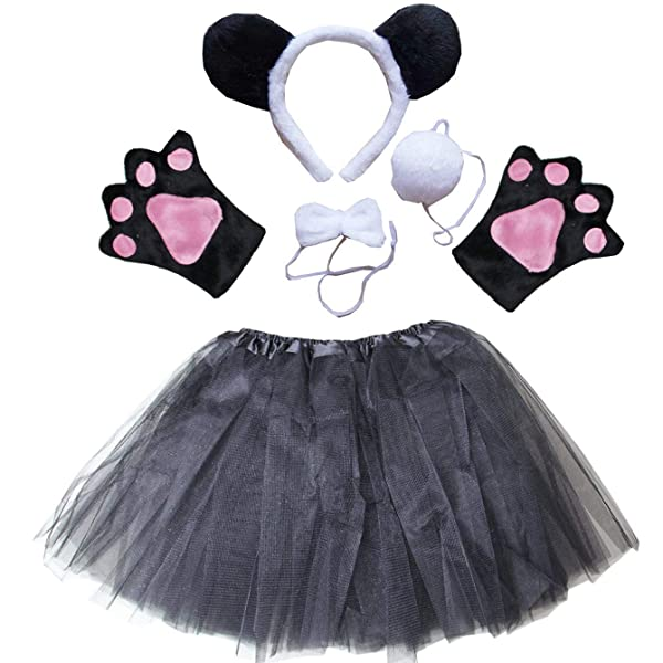 Classroom Role Play. Bowtie and Tail for Halloween Party Farm Theme Dress Up Pink Animal Costume Accessories Set with Pig Nose Ears