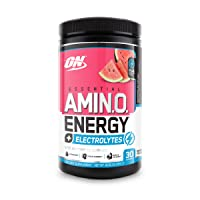Optimum Nutrition Amino Energy + Electrolytes - Pre Workout, BCAAs, Amino Acids,...