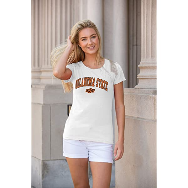 Top of the World NCAA Womens Trim Modern Fit Ideal Short Sleeve V-Neck Team Color Tee