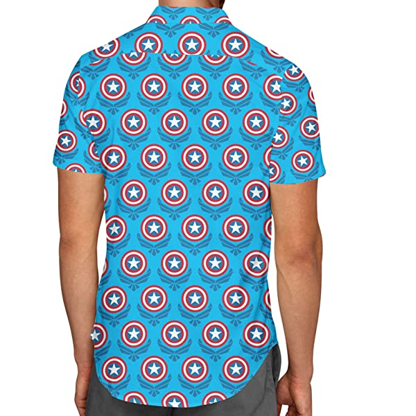 Loot Crate Guardians of The Galaxy Hawaiian Shirt Casual Button Down Short Sleeve Marvel Exclusive