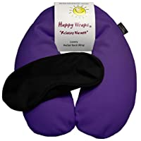 Happy Wraps Microwavable Herbal Neck Wrap - Hot Cold Aromatherapy Neck Warming Pillow...
