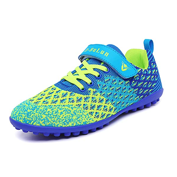 Lynxmko Unisex Kids Youth Athletic Lightweight Outdoor//Indoor Turf Comfortable Casual Cleats Soccer Shoes Girl//boy