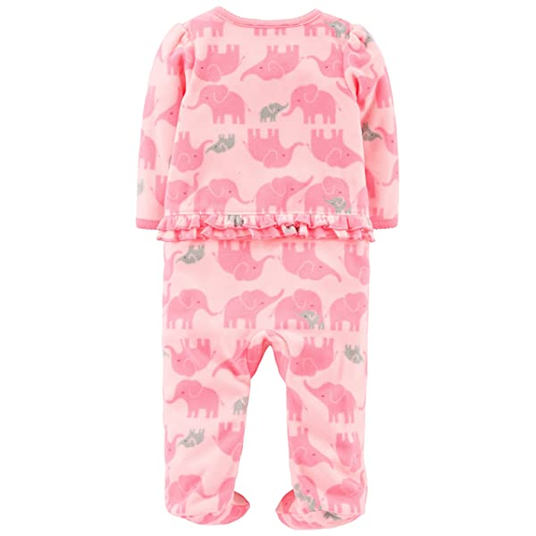 Carters Baby Girls 2-Pack Fleece Footed Pajamas