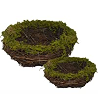 Delicaft Emlyn Easter Artificial One Faux Natural Moss,Rattan and Twig Bird's Nest...