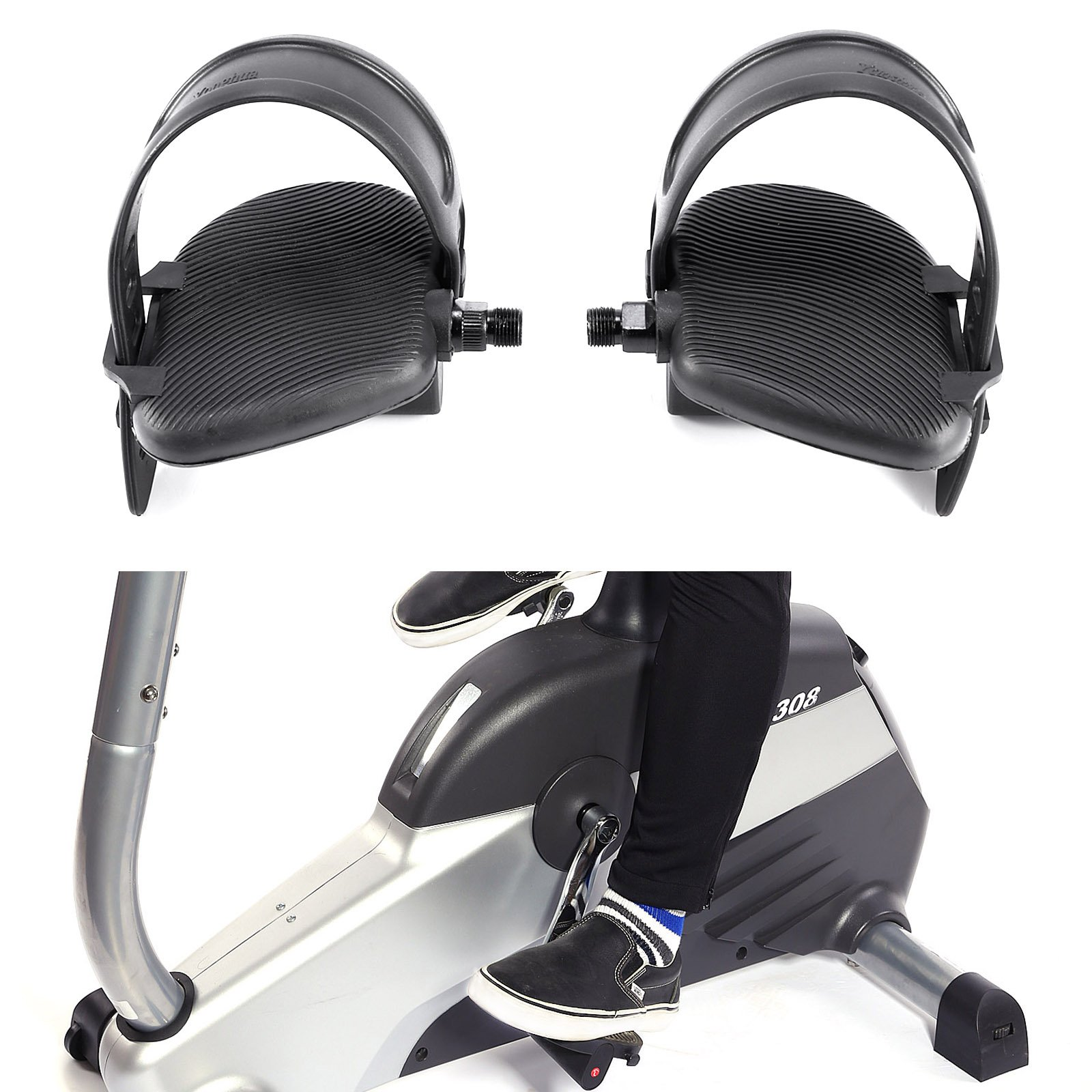 After Market Replacement for OEM# AK63-00124-0001 LIFE Fitness BIKE Pedals 9//16 Shaft Size SB Distribution Ltd. AK63-00263-0004 PAIR - L+R With Adjustable Strap AK63-00123-0003 Left+Right