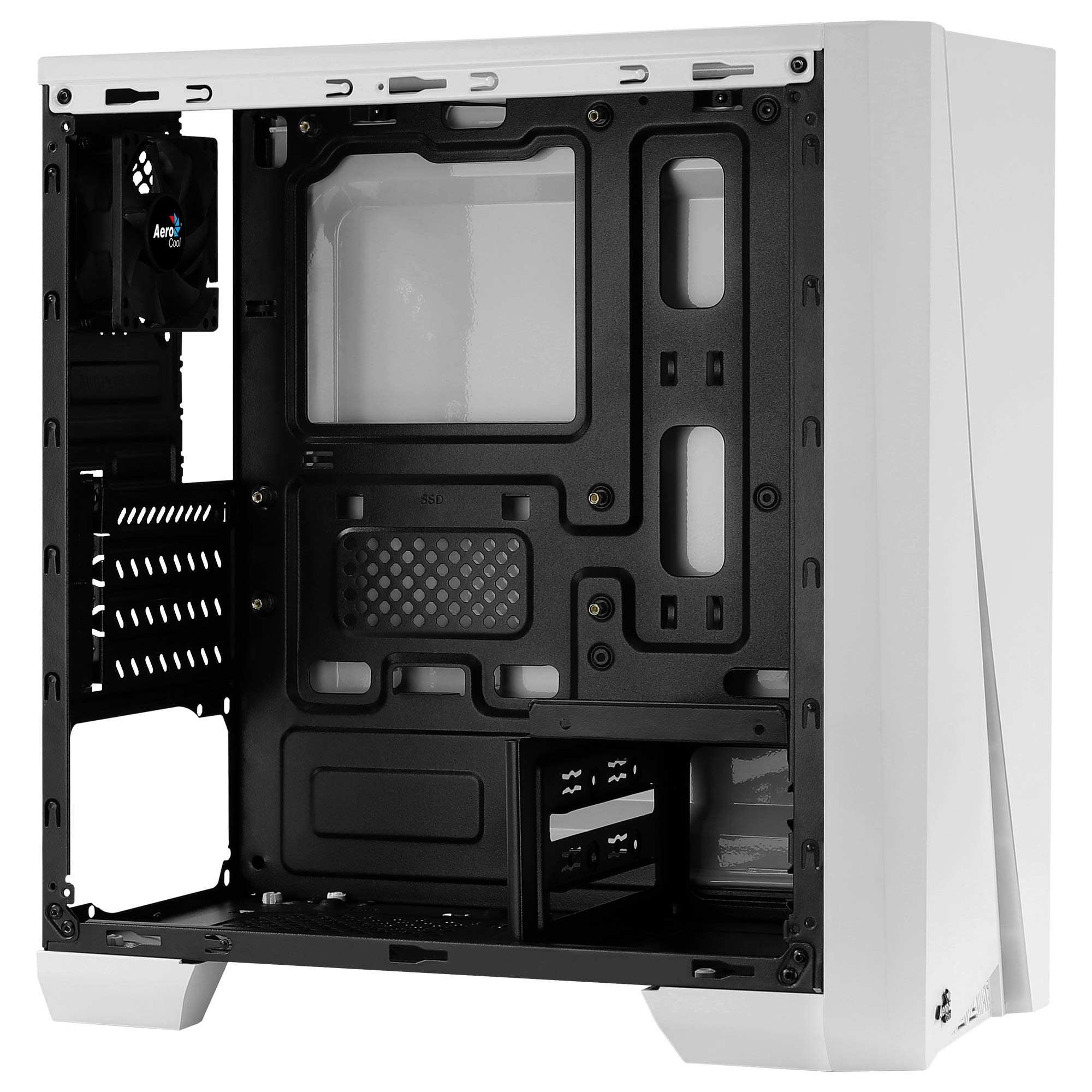 No Power Supply Red Color Aerocool QS-240 Micro ATX Chassis