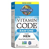 Garden of Life Vitamin Code Raw One for Men, Once Daily Multivitamin for Men, One...