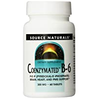Source Naturals Coenzymated B-6 300mg, Promotes a Healthy Nervous System,60 Tablets