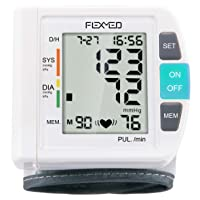 FLEXMED Wrist Blood Pressure Monitor with Large Cuff LCD Display Single Type 90...