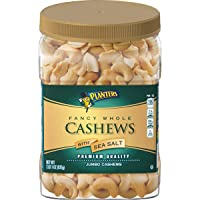 PLANTERS Fancy Whole Cashews with Sea Salt, 33 oz. Resealable Jar - Snack for Adults...