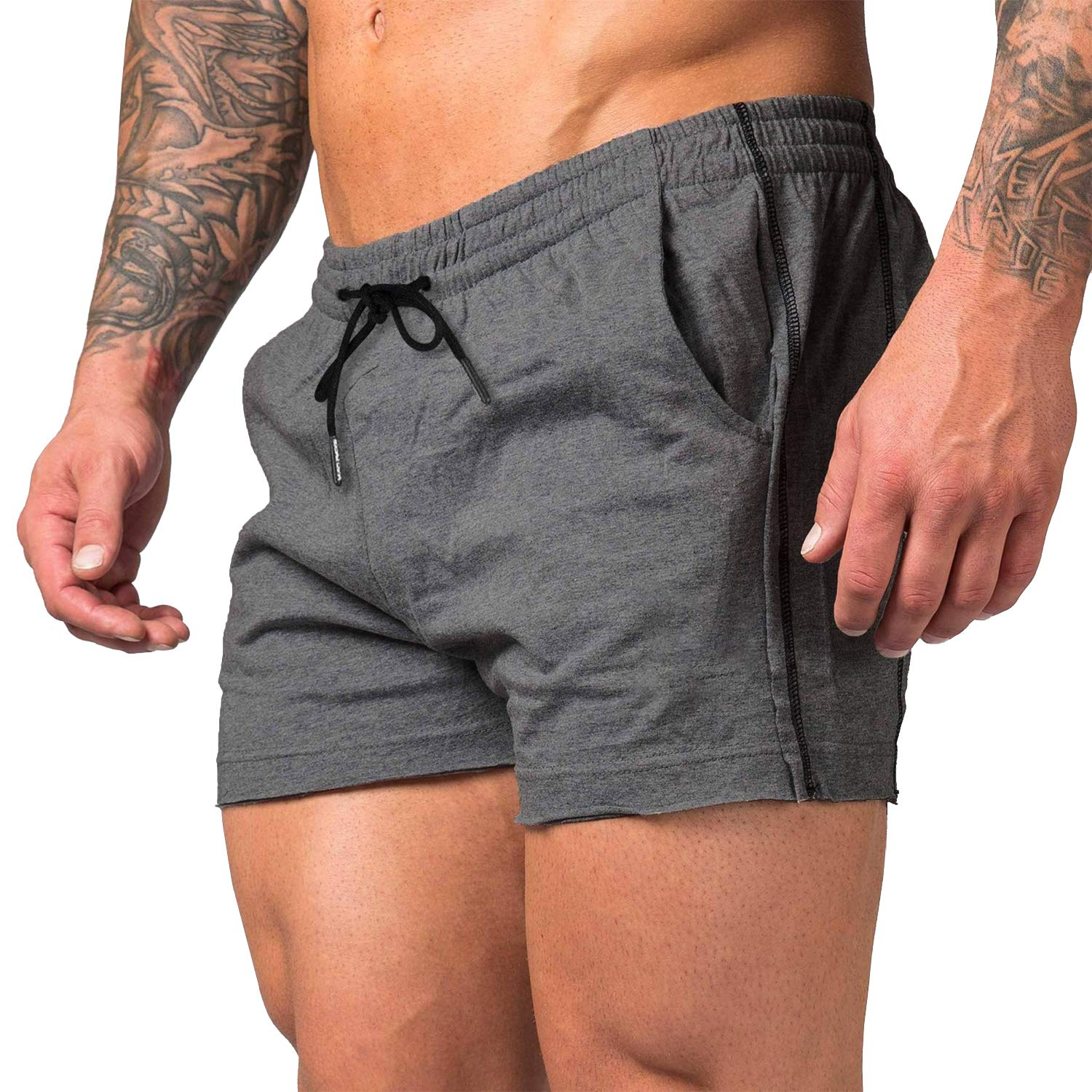 Lehmanlin Mens Workout Shorts 3 Inch Bodybuilding Quick Dry Shorts