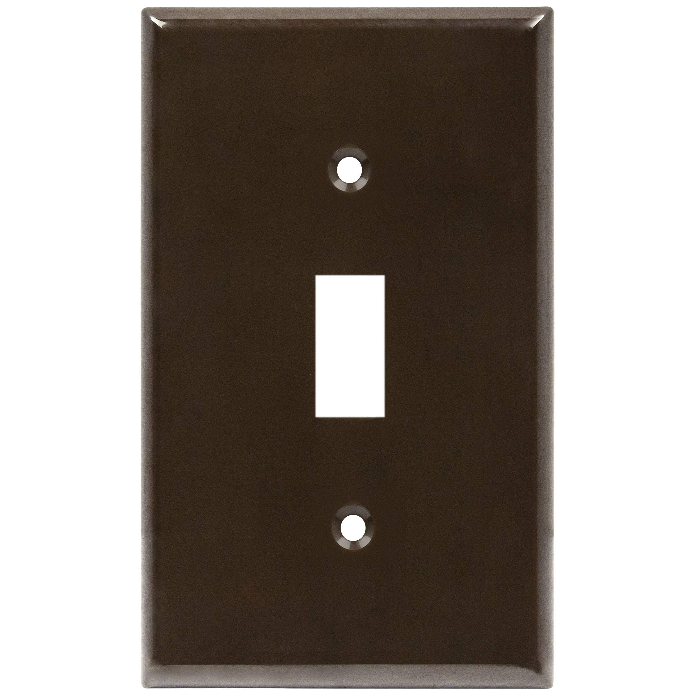 Standard Size 1 Gang 4 50 X 2 76 8811 Bk Unbreakable Polycarbonate Thermoplastic Enerlites Toggle Light Switch Wall Plate Black Wall Plates Accessories Saidli Wall Plates