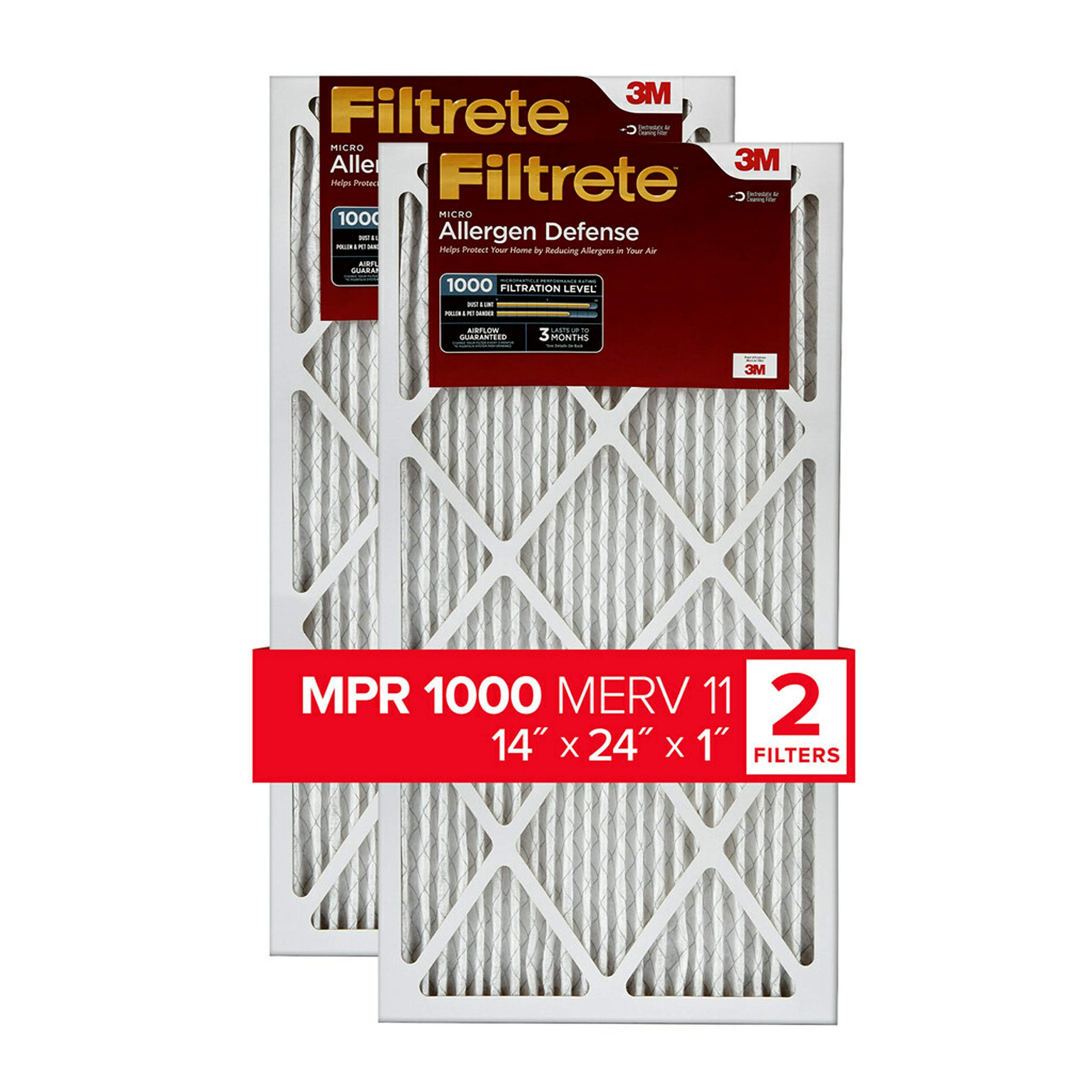 Nordic Pure 14x25x1 MPR 1900 Healthy Living Maximum Allergen Reduction Replacement AC Furnace Air Filters 1 Pack
