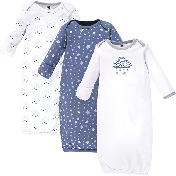 Pineapple 0-6 Months Hudson Baby Unisex Baby Cotton Gowns