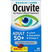 Bausch + Lomb Ocuvite Adult 50+ Vitamin & Mineral Supplement with Lutein, Zeaxanthin...
