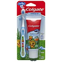 Colgate My First Baby and Toddler Toothpaste and Toothbrush, 1 Pack-Toothpaste &...