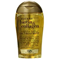 OGX Thick & Full Biotin & Collagen Wightless Healing Oil Treatment, 3.3 Ounce
