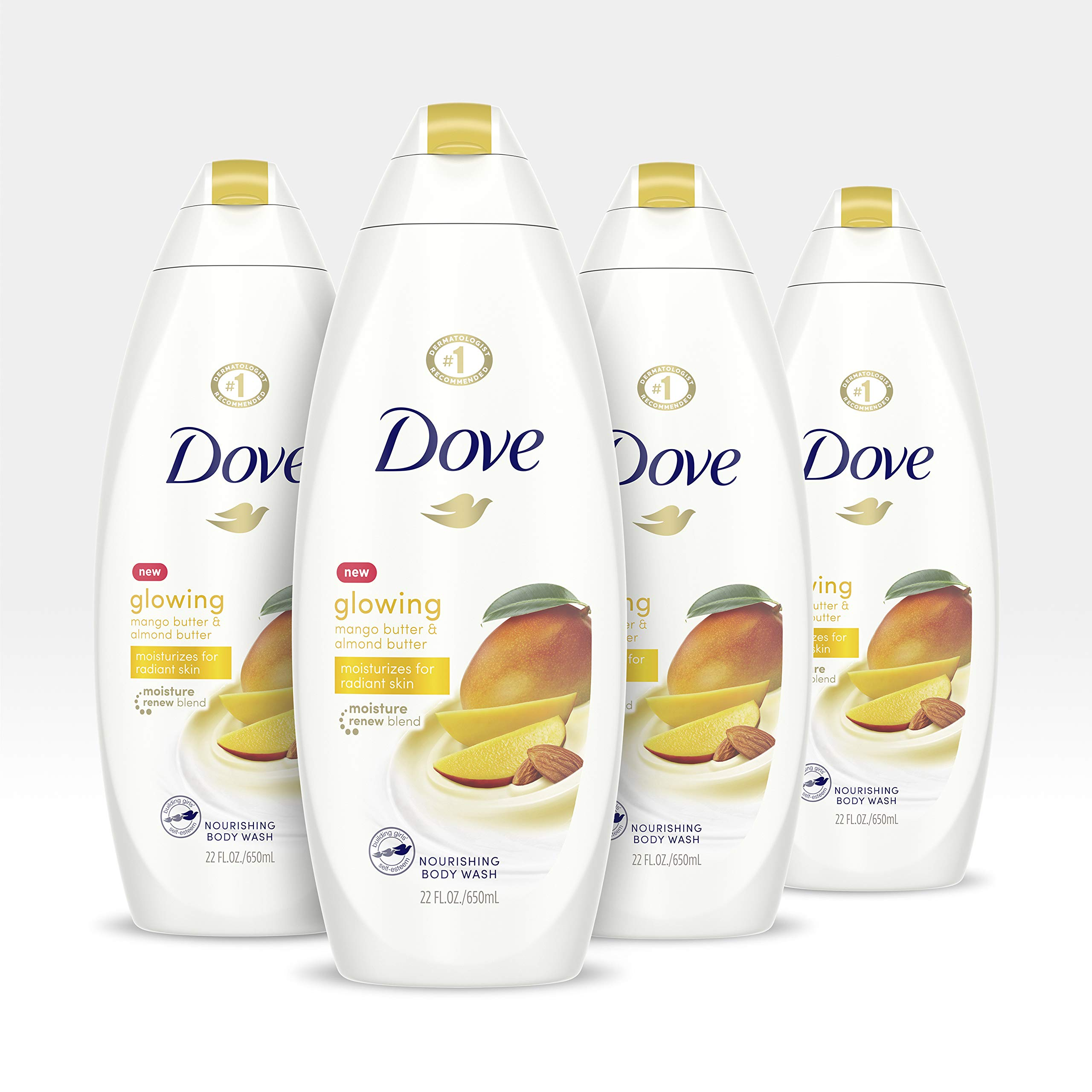 Mua Dove Glowing Body Wash Revitalizes And Refreshes Skin Mango Butter And Almond Butter Sulfate Free Body Wash 22 Fl Oz Pack Of 4 Tren Amazon Mỹ Chinh Hang 2020 Fado