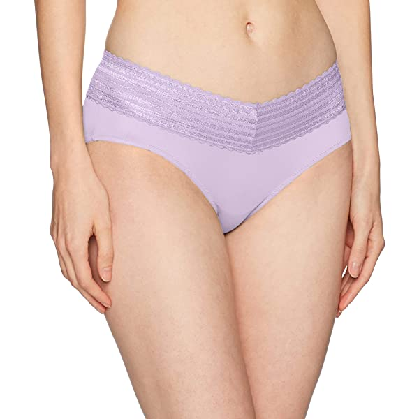Warners Womens No Pinching No Problems 3 Pack Micro Hipster with Lace Panties