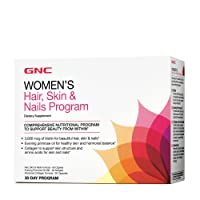 GNC Women's Hair, Skin & Nails Vitapak, 30 Packs, Contains Biotin for Strong and...