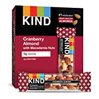 KIND Bars, Cranberry Almond + Antioxidants with Macadamia Nuts, Gluten Free, Low...