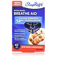 SleepRight Intra-Nasal Breathe Aids Breathing Aids for Sleep Nasal Dilator 45 Day...