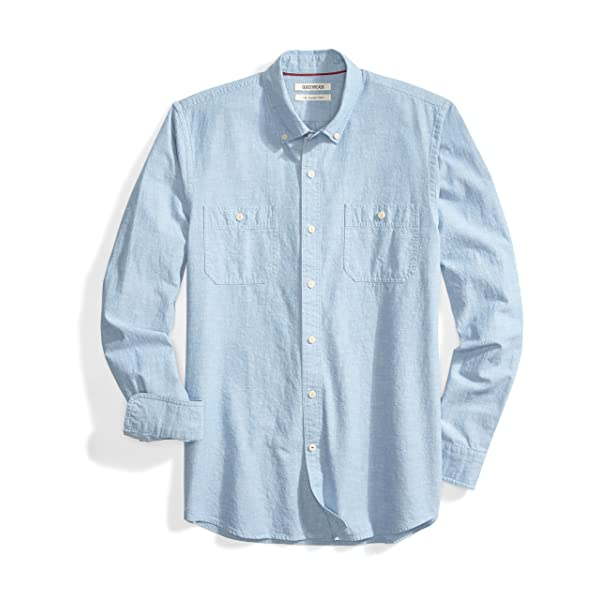 Goodthreads Mens Slim-Fit Long-Sleeve Denim Shirt Brand