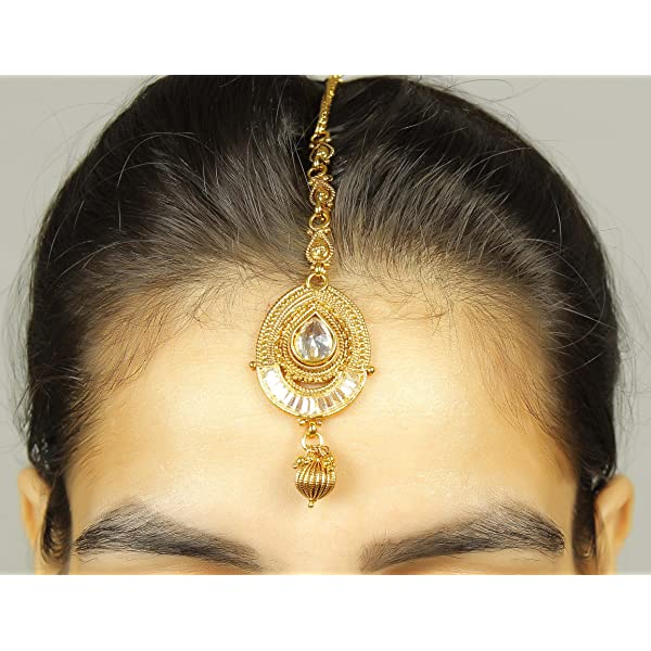 Shiv/_Collection Bollywood Amazing Style Partywear Maang Tikka Forehead Traditional Indian Jewelry