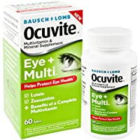 Bausch + Lomb Ocuvite Eye and Multi Multivitamin and Mineral Supplement with Lutein...