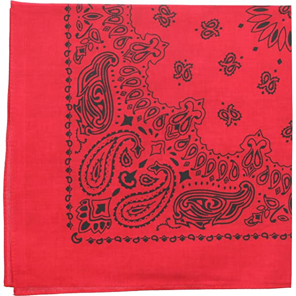 Trainmen Paisley Jumbo Military Bandana 6 Pack Head Scarf Do-rag 100/% Cotton Bandanna Cover 27 x 27
